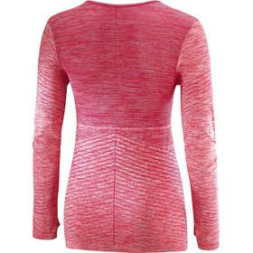 Salomon Elevate Move'On Longsleeve T-shirt Dames, cerise/fiery coral